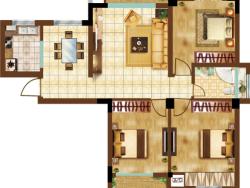 三室二廳一衛 112平方