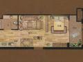 燁宸廣場 一室一廳一衛 44.86平方