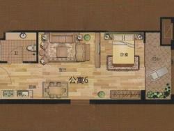 一室一廳一衛 44.86平方