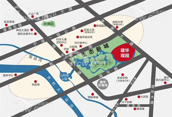 建華觀園 區位圖