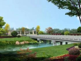 通往陽光湖公園大橋