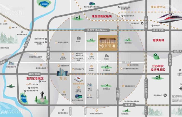 港龍·東望府 區位圖